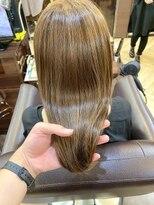 キャラ 池袋本店(CHARA)3回目の髪質改善でクセのあるエイジング毛もうる艶髪!【貴也】