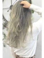 ヘアーサロン エール 原宿(hair salon ailes)(ailes原宿)style298 デザインカラー☆ハーフブロンド
