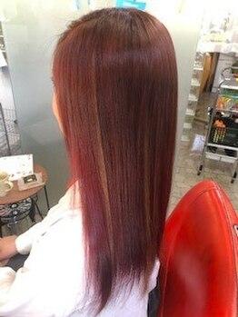 カット ショップ ゾーン(CUT SHOP ZONE)の写真/【初回限定◇サラつや髪質改善Tr/¥6000】傷んだ髪ほど効果的!うるツヤでナチュラルなまとまりスタイルに◎