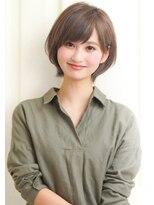 【rue京都】大人可愛い☆ひし形小顔ワンサイドショートボブ