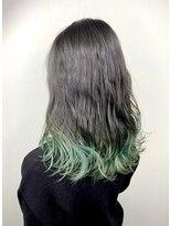 ソース ヘア アトリエ 京橋(Source hair atelier)【SOURCE】裾カラーライトグリーン