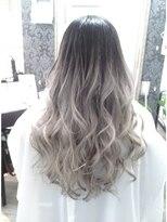 ヘアーグランデシーク(Hair Grande Seeek)透明感◎外国人風♪silver Ashグラデcolor