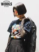 ワークス ヘアデザイン(WORKS HAIR DESIGN)シースルバング黒髪マチルダボブ