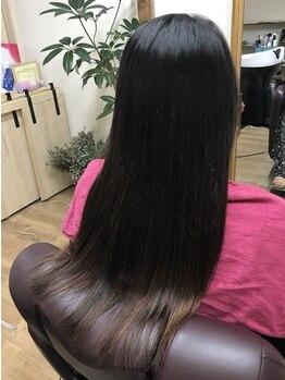 アウラ(aula)の写真/【東加古川駅徒歩2分】ダメージレスで柔らかな仕上がりのストレートを実現♪毛先まで潤い溢れるツヤ髪に。