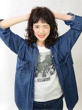ヘアメイク アース 浜松市野店(HAIR & MAKE EARTH)無造作ミディアムパーマスタイル☆