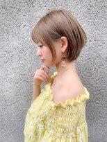 ノット(Knot)【knot阿部展大】大人かわいい小顔丸みショートボブサイド