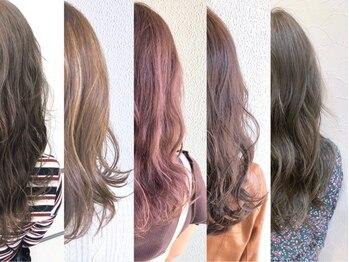 """アルモヘアヴォーグ 静岡(ALMO hair VOGUE)の写真/洗練された""""絶妙くすみカラー""""で柔らかく光に透けるような質感に☆秋映えカラーでカジュアル可愛いが叶う♪"""