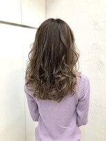 ヘアーライズ 池袋東口店(hair RISE)バレイヤージュピンクパールグレー