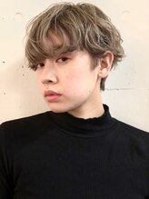 ダブ ダイカンヤマ(DaB daikanyama)ニュアンスくせ毛ショート/無造作カール/デザインカラー