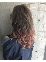 ガルボ ヘアー(garbo hair) 【garbo】A/W♪pink×Ashbrown
