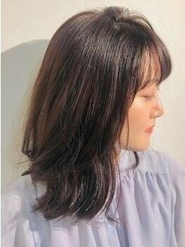 ヘアーサロン アールイー(Hair salon Re)の写真/最新の機材と薬剤を使用!ウエーブでもしっかり艶感を感じられる髪に♪再現性の高さも◎