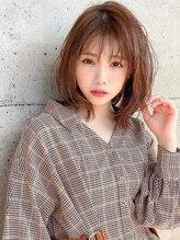 アグ ヘアー ロンド 福井店(Agu hair lond)《Agu hair》柔らかオレンジベージュミディ