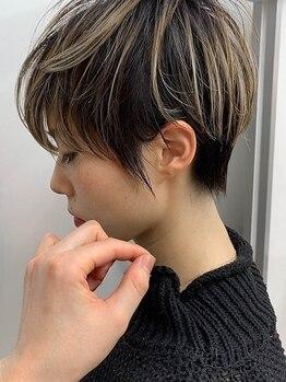 クレア 茅ヶ崎(CREA)の写真/女性らしいふんわりシルエットのボブ・ショートヘアはおまかせ◎ばっさりイメチェンも♪