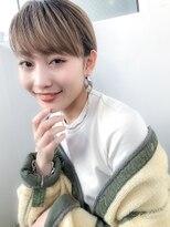 小顔カット×ピンクベージュ ×イルミナカラー×黒髪×吉祥寺
