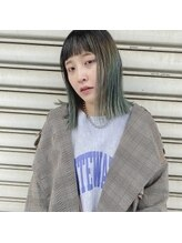 ハル ヘアスタジオ(haRu hair studio)ロブ×ペールブルーグリーン
