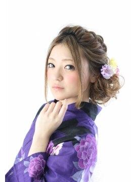 ネオリーブセブン 御茶ノ水店(Neolive 7)【neolive7 御茶ノ水】編みこみアレンジ☆浴衣