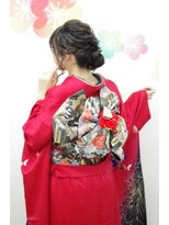 サロンド クラフト(salon de craft)【成人式】モダンルーズなダウンアップシニヨンスタイル♪