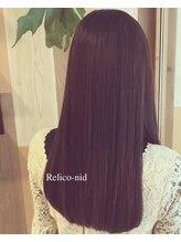 レリコ ニド(Relico-nid)ナチュラル系ブラウン×艶髪ストレート