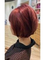 ラバフロー 小野原店(LAVA FLOW)赤髪 ショートボブ