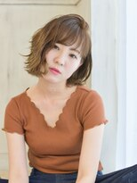 ヘアアンドメイク アリス(hair&make ALICE produce by COLT)かき上げ切りっぱなしボブ&シースルーベージュ