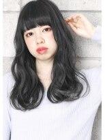 ヘアサロン ガリカ 表参道(hair salon Gallica)☆ ネイビーグレージュ & オン眉 無造作ひし形シルエット