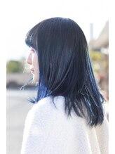 タンタントザクワフュール(Ten Tante the coiffure)透明感のあるネイビーカラー☆デザインカラー、ブルージュ