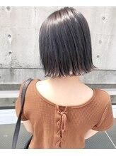 ガーデン ヘアークリエイトスペース(garden hair create space)グレージュカラーx切りっぱなしボブ★
