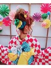 京都レンタル着物 浪漫館ハッピーお祭りヘア☆