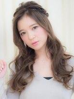 オーブ ヘアー ニア 御茶ノ水店(AUBE HAIR nia)甘め◎編み込みハーフアップ