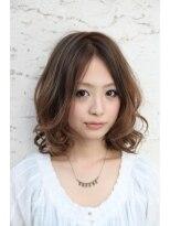 ダミアバイルル(DAMIA by LuLu)55★時間短縮スタイリングいらず!センターパートミディアムボブ