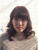 ヘアーサロンf大人カール+ふんわりバングの大人可愛いロングスタイル☆