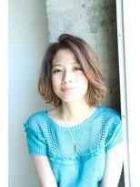 ギフト ヘアー サロン(gift hair salon)前髪長めの束感ボブスタイル (熊本・通町筋・上通り)