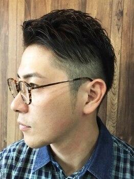 エイト ヘアワークス シンテラ(EIGHT HAIR WORKS SHIN TERA)の写真/大人気クーポン【新規!!オイルシェービングケア+メンズカットコース¥4400】再現性高いオシャレなスタイルを