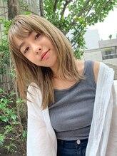 ヘアサロンエム 渋谷店(HAIR SALON M)顔まわりのレイヤーが可愛い☆フォギーベージュ