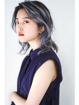 ヘアサロン ガリカ 表参道(hair salon Gallica)『 ウルフレイヤー×ブルーシルバー 』☆ シースルーバング