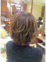 【hair's curare】伸ばしかけレイヤーボブ