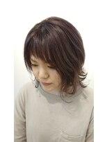 ヘアーリゾートラシックアールプラス(hair resort lachiq R+)《R+》透明感ラベンダーアッシュ☆くびれショート