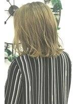 ヘアーサロン エール 原宿(hair salon ailes)(ailes原宿)style319 デザインカラー☆ブロンドミディ