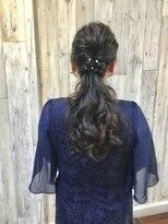ヘアースペース ムーン(Hair Space MOON)お祝い事での大人のヘアーセット。着付けも早朝から取り掛かりOK
