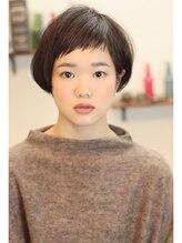 エム 綾瀬店(hair make e6+)大人気☆短め眉上ショートバングボブ