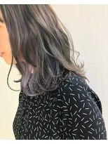 ヘアメイク オブジェ(hair make objet)グレージュ×パープルインナーカラー ☆★KAI☆★