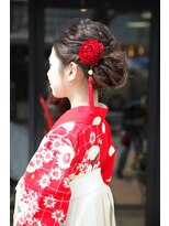 卒業式袴に合うアップスタイル