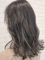 ビス ヘア アンド ビューティー 西新井店(Vis Hair&Beauty)コントラストハイライトカラーバレイヤージュグレージュアッシュ