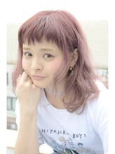 ヘアーデザイン キャンパス(hair design Campus)【ダブルカラーでおもいっきりイメチェン♪】ミルキーピンク☆