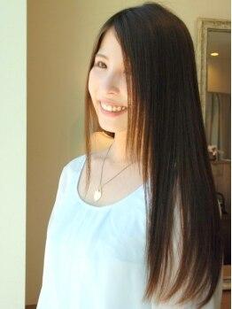 セレクトヘアー ブルーノート(select hair Blue Note)の写真/新在家◆施術前後に施すトリートメント処理で自然に伸ばすまっすぐサラツヤストレート◎仕上がり大満足♪