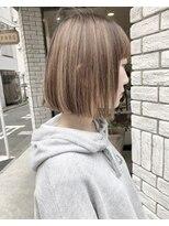 【田中智大】切りっぱなしボブ×ストレート (ベージュ)