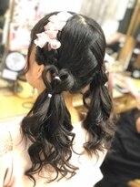 ヘアセットサロン アトリエ チャイ(Hair set salon atelier CHAI)編み込みハートツインアレンジ