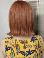 キラ 原宿 表参道(KILLA)【山下未紗】オレンジカラー 髪質改善 前髪 ココアブラウン