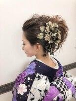 ヘアメイク シュシュ(Hair make chou chou)オールバッククールノットヘアセット【chou-chou 北林夏実】