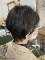 フローレス バイ ヘッドライト 三鷹店(hair flores by HEADLIGHT)美フォルムショート×ブルージュ